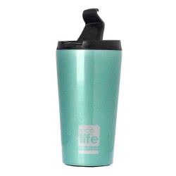 eco life Μεταλλικό Ανοξείδωτο Θερμός για Καφέ 370ml, Γαλάζιο 33-BO-4001 5208009001140