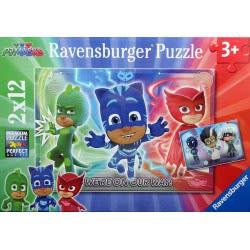 Ravensburger Παζλ 2x12 τεμ. PJ Masks 07622 4005556076222