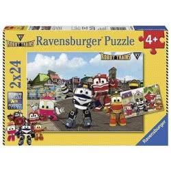 Ravensburger Παζλ 2x24 τεμ. Robot Trains 07822 4005556078226
