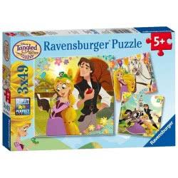 Ravensburger Παζλ 3x49 τεμ. Ραπουνζέλ Μαλλιά Κουβάρια 08024 4005556080243