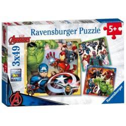 Ravensburger Παζλ 3x49 τεμ. Avengers 08040 4005556080403