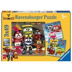 Ravensburger Παζλ 3X49 Τεμ. Robot Trains 8047 4005556080472
