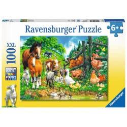 Ravensburger Παζλ 100XXL τεμ. Ζώα της Φάρμας 10689 4005556106899