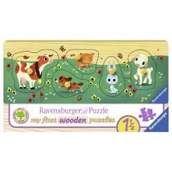 Ravensburger Favourite Animal Friends, 5Pc Wooden Puzzle 03235 4005556032358