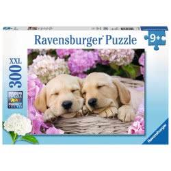 Ravensburger Sleeping Puppies, 300Xxlpc Jigsaw Jigsaw Puzzle 13235 4005556132355