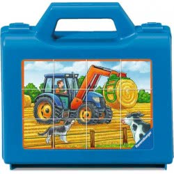 Ravensburger Κύβοι 12 τεμ. Οχήματα στο Αγρόκτημα 07432 4005556074327