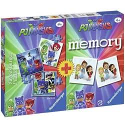 Ravensburger Memory + 3 Puzzles 25-36-49 Pcs PJ Masks 21300 4005556213009