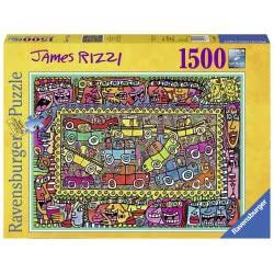 Ravensburger Παζλ 1500 τεμ. James Rizzi: Στο δρόμο για το πάρτι 16356 4005556163564