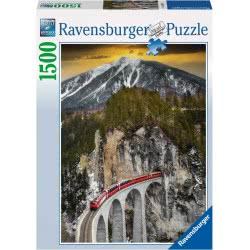 Ravensburger Παζλ 1500 τεμ. Τραίνο στο Φαράγγι 16358 4005556163588