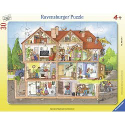 Ravensburger Παζλ Καρτέλα 30 τεμ. Η Ζωή στο Σπίτι 06154 4005556061549