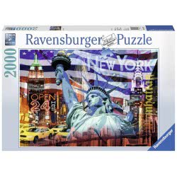 Ravensburger Παζλ 2000 Τεμ. Κολάζ Νέα Υόρκη 16687 4005556166879