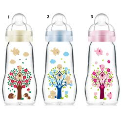 MAM Feel Good Baby Bottle 260ml Silicon Nipple 2+ Months - 3 Designs 375S 9001616692956