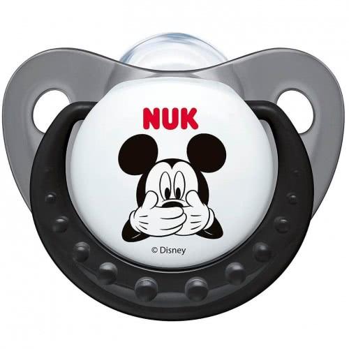 NUK Ορθοδοντική Πιπίλα Σιλικόνης Disney Mickey 0-6 Μηνών - 3 Χρώματα 10729717 4008600172482