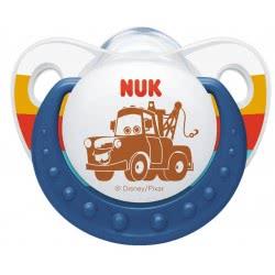 NUK Ορθοδοντική Πιπίλα Σιλικόνης με κρίκο Disney Cars 0-6 μηνών - 2 σχέδια 10730001 4008600272489