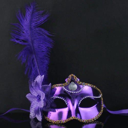 maskarata Μάσκα Μωβ με Λουλούδι και Φτερά A0436 5200304404367