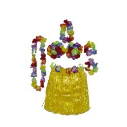 maskarata Σετ Χαβανέζας Κομπλε - 3 Χρώματα(πράσινο, κίτρινο, μπλε) ΑΞ100067 5200304406798