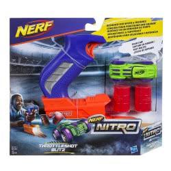 Hasbro Nerf Nitro ThrottleShot Blitz (blue blaster) Αυτοκινητάκι με Εκτοξευτή C0780 / C0781 5010993381227
