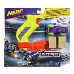 Hasbro Nerf Nitro Throttleshot Blitz (Green Blaster) Αυτοκινητάκι Με Εκτοξευτή C0780 / C0783 5010993381241