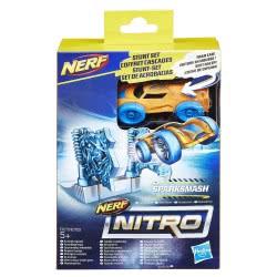 Hasbro NERF Nitro Barrel Sparksmash Stunt Set Αυτοκινητάκι με ράμπα εκτόξευσης E0153 / E1270 5010993447145