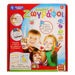 Real Fun Toys Real Fun Σετ Ζωγραφικής Μικροί Ζωγράφοι 4 Χρώματα 7052 5200392370520