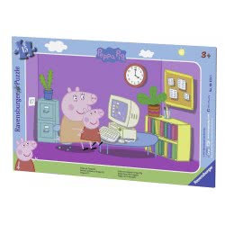 Ravensburger 15 Pcs Frame Puzzle Peppa Pig 6123 4005556061235