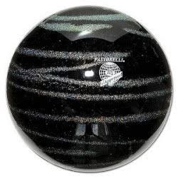 pastorelli Μπάλα ρυθμικής γυμναστικής Glitter, Kiss & Cry, Μαύρη-Ασημί 54.03236