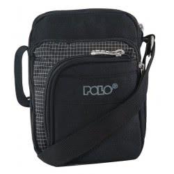 POLO Τσαντάκι Ώμου Strike Small Bag S P.R.C. Χρώμα Μαύρο/Γκρι 907007-02-00 5201927093396