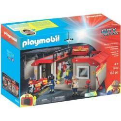 Playmobil Βαλιτσάκι Πυροσβεστικός Σταθμός 5663 4008789056634