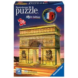 Ravensburger 3D Puzzle Night Edition 216 Τεμ. Η Αψίδα Του Θριάμβου 12522 4005556125227