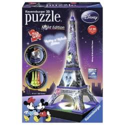 Ravensburger 3D Puzzle Night Edition 216 Pcs Eiffel Tower Disney 12520 4005556125203