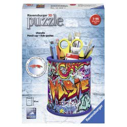 Ravensburger 3D Puzzle 54 Pcs Pencil Case Graffiti 12109 4005556121090