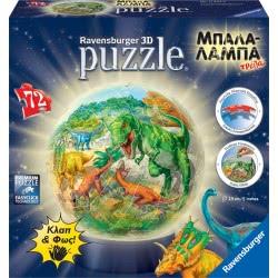 Ravensburger 3D Puzzle 3D Puzzle Night Light 72 Pcs Dinosaurs 11822 4005556118229