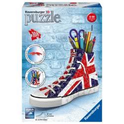 Ravensburger 3D Puzzle 108 Pcs Sneaker UK Flag 11222 4005556112227