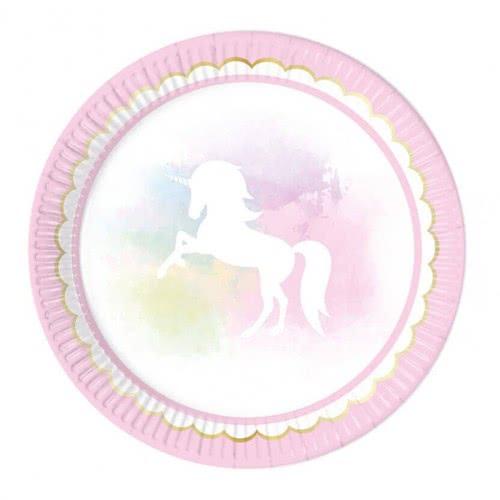 PROCOS Believe In Unicorns Paper Plates Large 23Cm - 8Pcs 089345 5201184893456