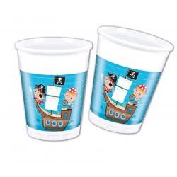 PROCOS Ποτήρια Πλαστικά Μικροί Πειρατές 200Ml - 8Τμχ 088251 5201184882511