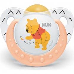 NUK Πιπίλα Trendline Disney Winnie Καουτσούκ Με Κρίκο, Μεγέθος 2 (6-18 Μηνων) 10733145 4008600162674