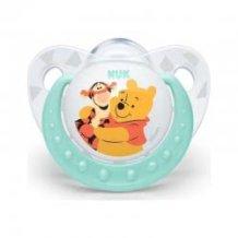 NUK Πιπίλα Trendline Disney Winnie Σιλικόνης Με Κρίκο, Μεγέθος 2 (6-18 Μηνων) 10735564 4008600121077