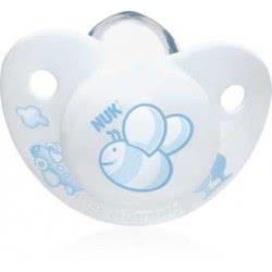 NUK Πιπίλα Trendline Baby Blue Σιλικόνης Χωρίς Κρίκο, Μέγεθος 1 (0-6Μηνών) 10729400 4008600058526