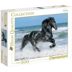 Clementoni Παζλ 500 H.Q. Μαύρο Άλογο 1220-30175 8005125301751