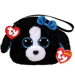 ty Beanie Boos Χνουδωτό Πορτοφολάκι Σκύλος Μαύρος/Άσπρος 1607-95202 008421952021