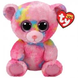 ty Beanie Boos Χνουδωτό Αρκουδάκι Ροζ Πολύχρωμο 15 Εκ. 1607-36899 008421368990