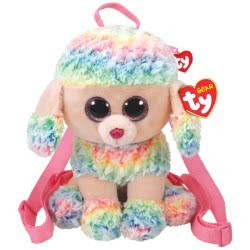 As company TY Beanie Boos Χνουδωτό Τσαντάκι Πλάτης Rainbow 1607-95005 008421950058