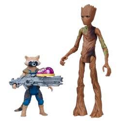 Hasbro Marvel Avengers: Infinity War Rocket Raccoon & Groot With Infinity Stone Figures 15Cm E0563 / E2070 5010993462933