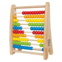 Hape Rainbow Bead Abacus Πολύχρωμος Άβακας 10 Στηλών E0412A 6943478002593