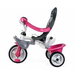 Smoby Παιδικό Ποδήλατο Τρίκυκλο Baby Balade Pink 741101 3032167411013