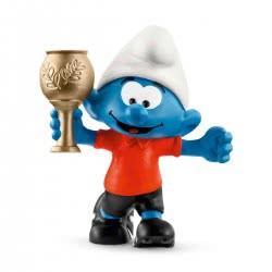 Schleich Στρούμφ Ποδοσφαιριστής με Κύπελλο 20807 4055744021183
