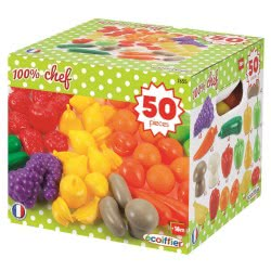 ecoiffier Πακέτο 50 Φρούτων και Λαχανικών 2655 3280250026556