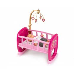 Smoby Baby Nurse Rocking Bed - Pink 220328 3032162203286