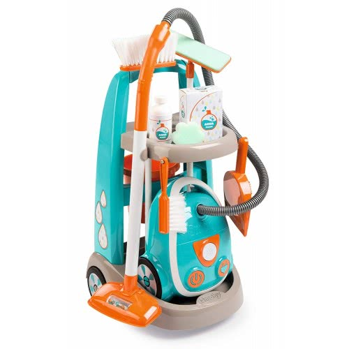 Smoby Cleaning Trolley And Vacuum Cleaner 330309 3032163303091