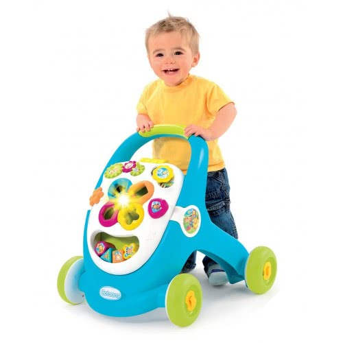 Smoby Cotoons Baby Walker and Activity Board - Blue 110303 3032161103037